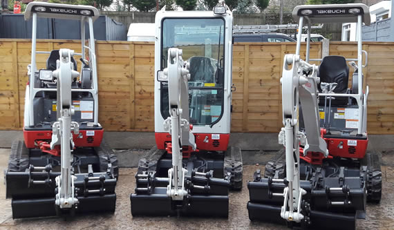 Mini digger hire Manchester, Bury, Bolton, Rochdale, Oldham